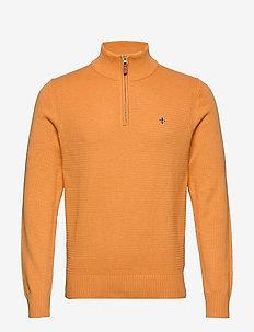 Walter Half Zip - basic gebreide truien - orange