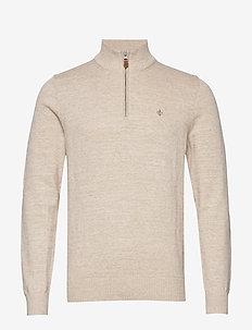 Randal Half Zip - half zip jumpers - khaki