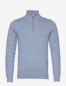 Randal Half Zip - half zip jumpers - light blue