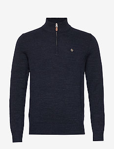 Randal Half Zip - half zip jumpers - navy