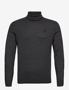 Merino Roller Neck - tricots basiques - grey