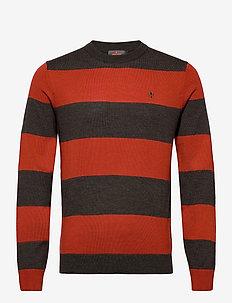 Danson Oneck - knitted round necks - red