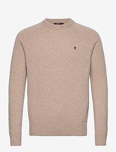 Lambswool Oneck - basic knitwear - khaki
