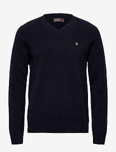 Lambswool Vneck - tricots basiques - navy