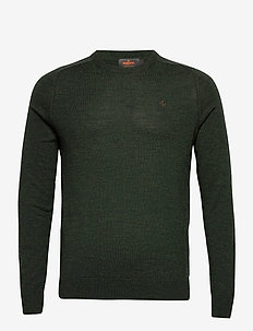 Merino Oneck - tricots basiques - olive