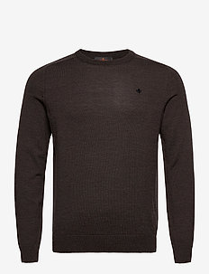 Merino Oneck - basic-strickmode - brown