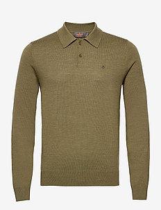 Merino Polo Shirt - langermede - green