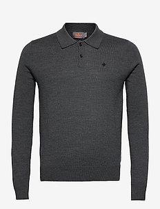 Merino Polo Shirt - polos à manches longues - grey