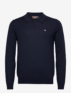 Merino Polo Shirt - basic-strickmode - navy