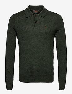 Merino Polo Shirt - polos à manches longues - olive