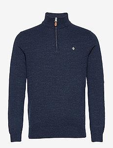 Randall Half Zip - half zip jumpers - navy