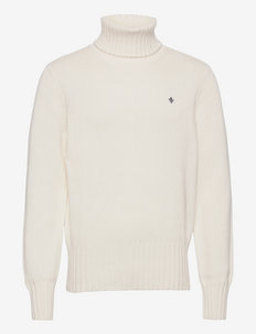 Henley Roller Neck - tricots basiques - off white
