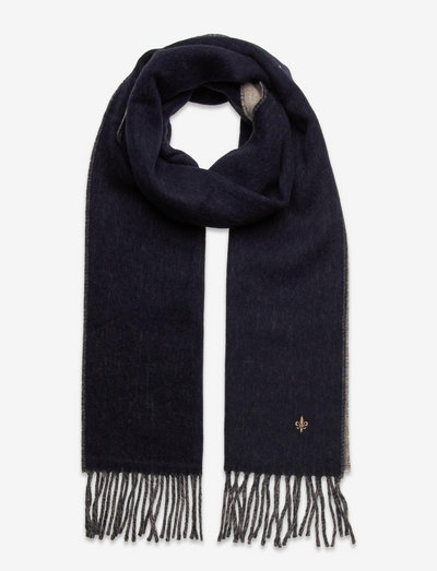 Double Face Scarf - winter scarves - navy