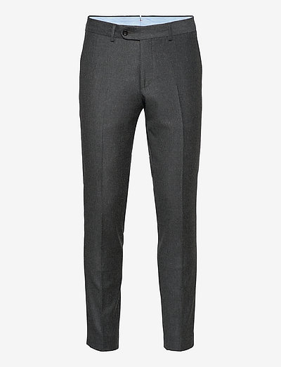 Rodney Flannel Trouser - suit trousers - grey