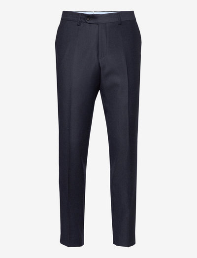 Rodney Flannel Trouser - suit trousers - navy