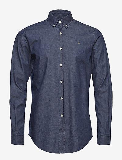 Julian Button Down Denim Shirt - oxford shirts - blue
