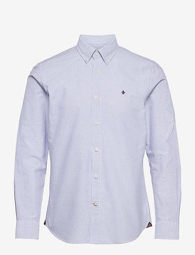 Oxford Striped BD Shirt - basic-hemden - light blue