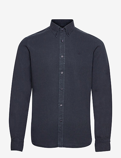 Lucien Button Down Shirt - checkered shirts - blue