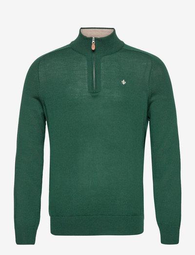 Merino John Zip - half zip-tröjor - green