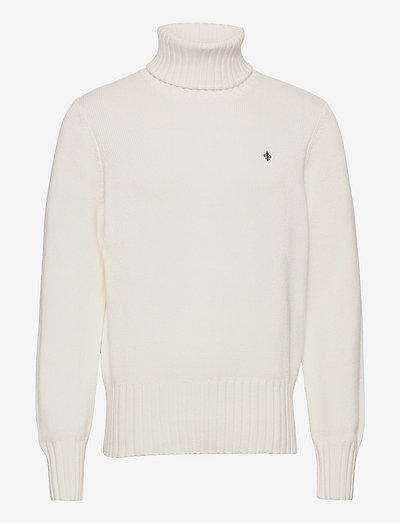 Henley Roller Neck - basic knitwear - off white