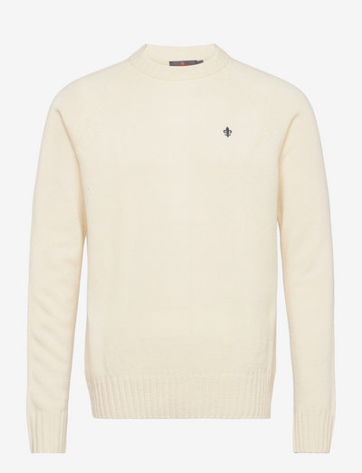 Lambswool Oneck - basic knitwear - off white