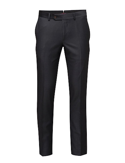 Paul Solid Suit Trousers - GREY