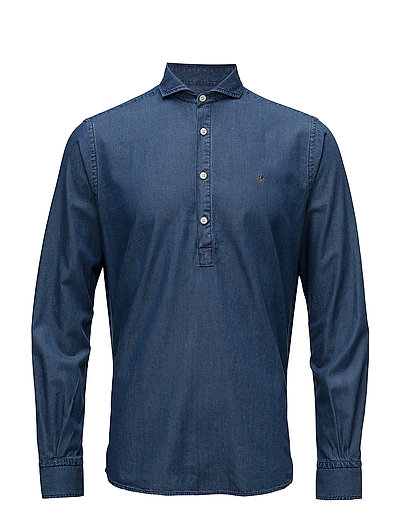 Bussarong Cut Away Shirt - BLUE