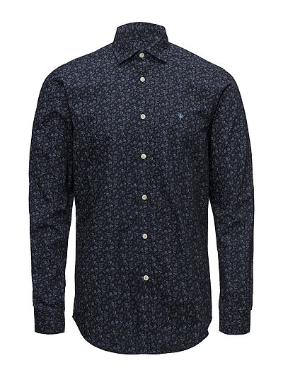 Blaine Spread Collar Shirt - NAVY