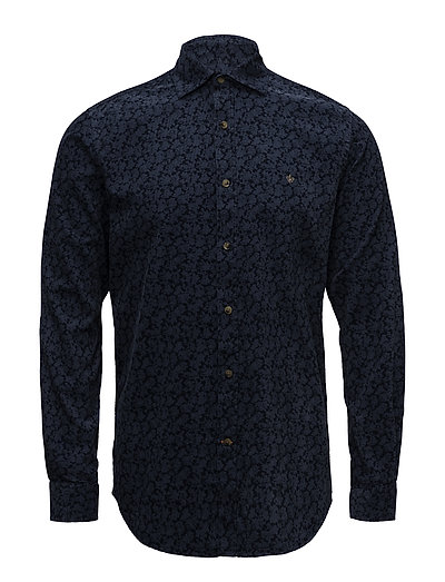 Clement Spread Collar Shirt - NAVY