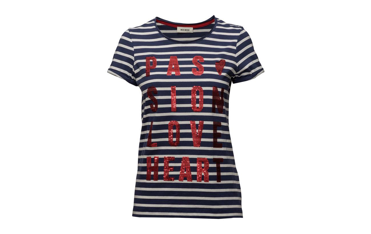 Cherry Stripe Tee 100 Coton Mosh Mos Crave wvC1SHq