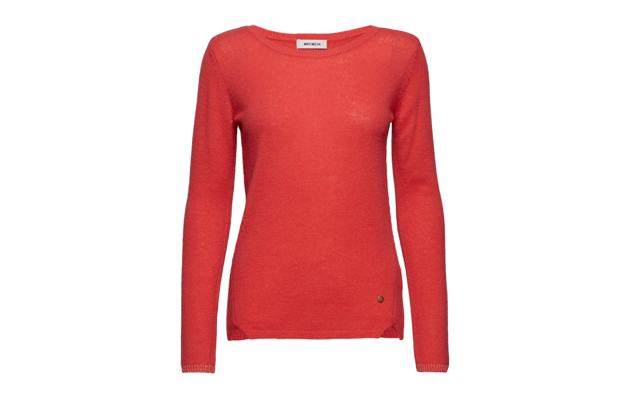 Sophia O Cachemire Rio Mosh neck Red Cashmere 100 Mos 6Oqg4nC