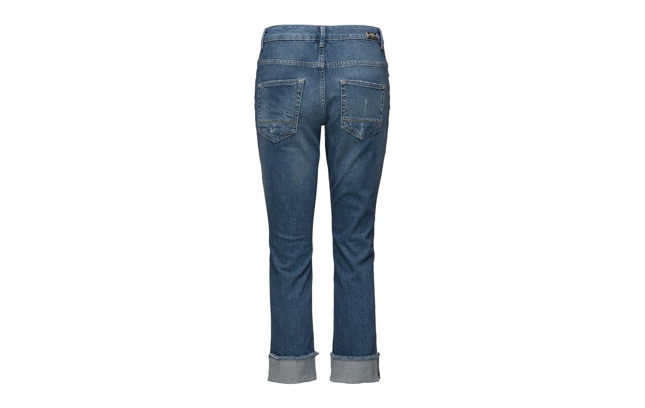 2 Turn Elastane up Denim Blue Jeans Coton Light Emily Mos Mosh 98 qFRZwUfaa