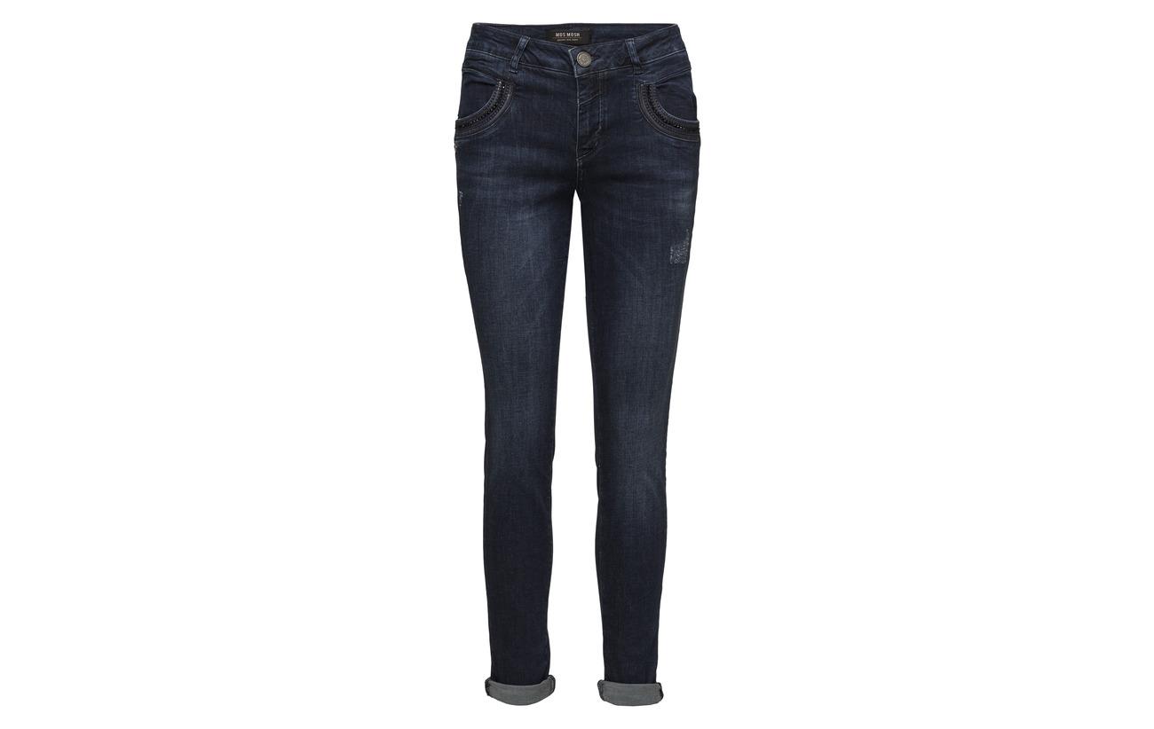 Blue Jeans Détails Devant paillettes Shine Denim Dark Pocket Naomi Mos Mosh Emb wqXTxf7R
