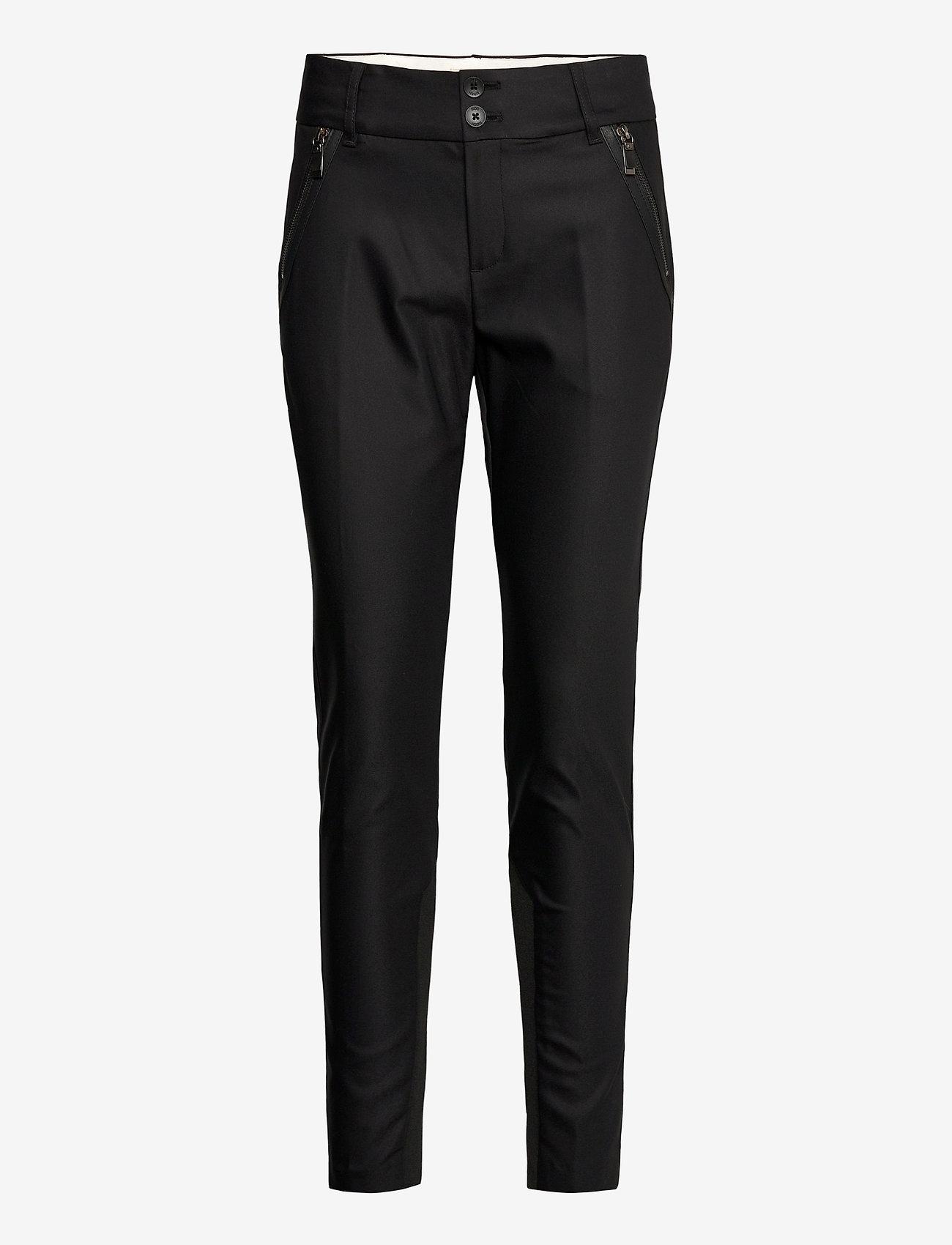 MOS MOSH - Milton Night Pant Sustainable - slim fit bukser - black - 0