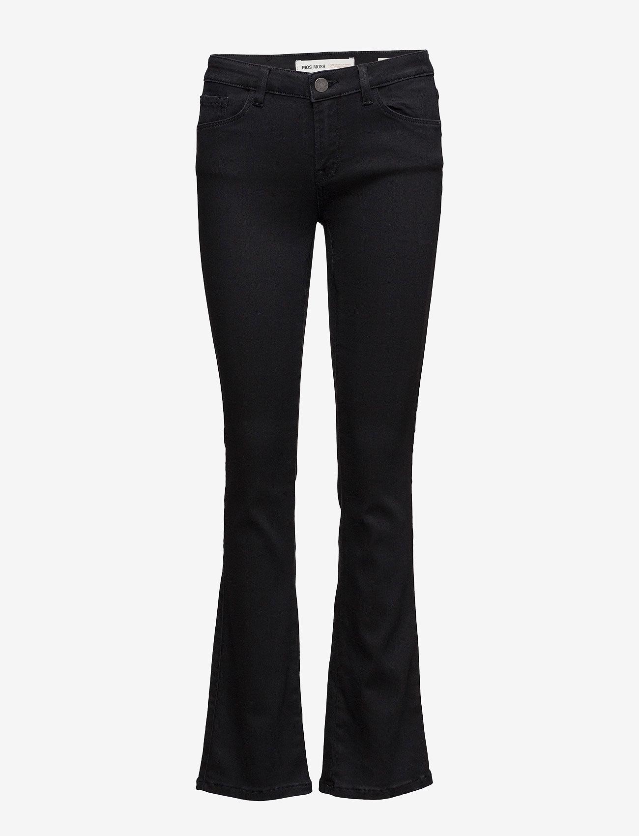 MOS MOSH - Athena Boot Cut Jeans - boot cut jeans - jet black - 0