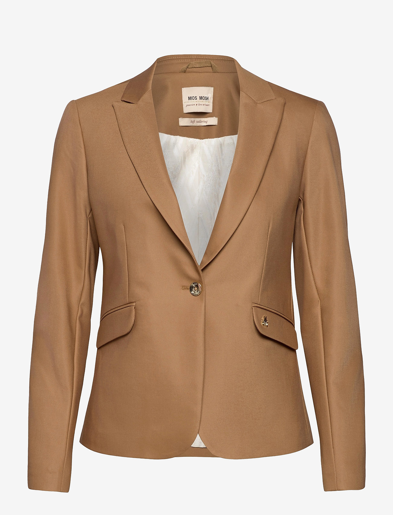 MOS MOSH - Blake Night Blazer Sustainable - vardagskavajer - toasted cocount - 0