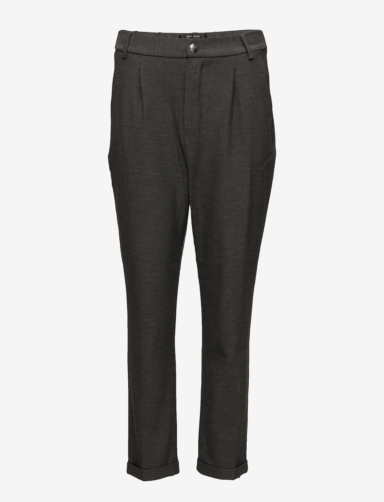 MOS MOSH - Mary Hayes Pant - bukser med brede ben - grey melange - 0