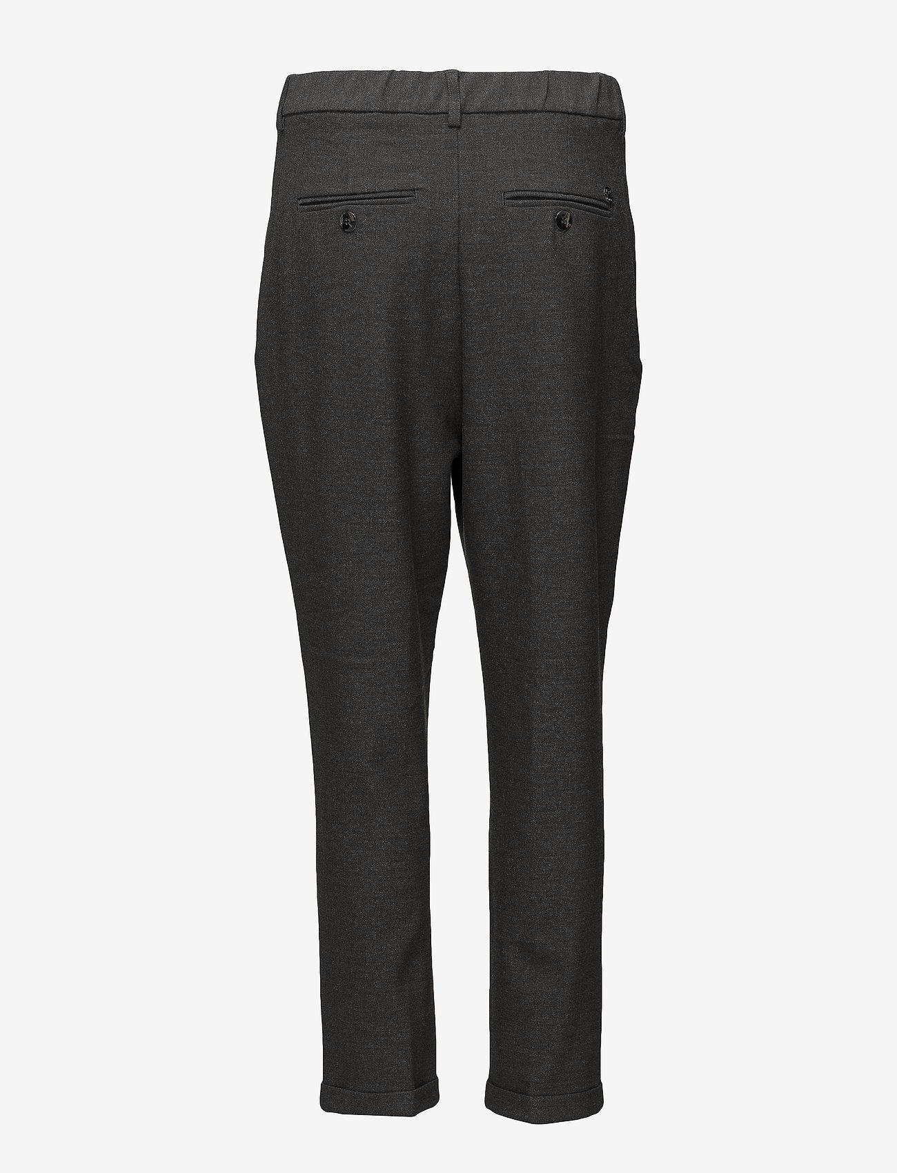 MOS MOSH - Mary Hayes Pant - bukser med brede ben - grey melange - 1