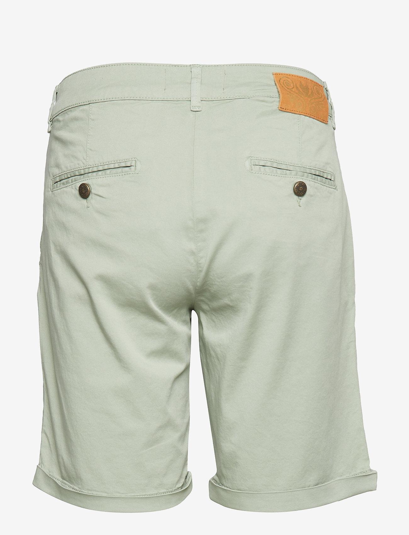 MOS MOSH Perry Chino Shorts - Szorty SAGE GREEN - Kobiety Odzież.