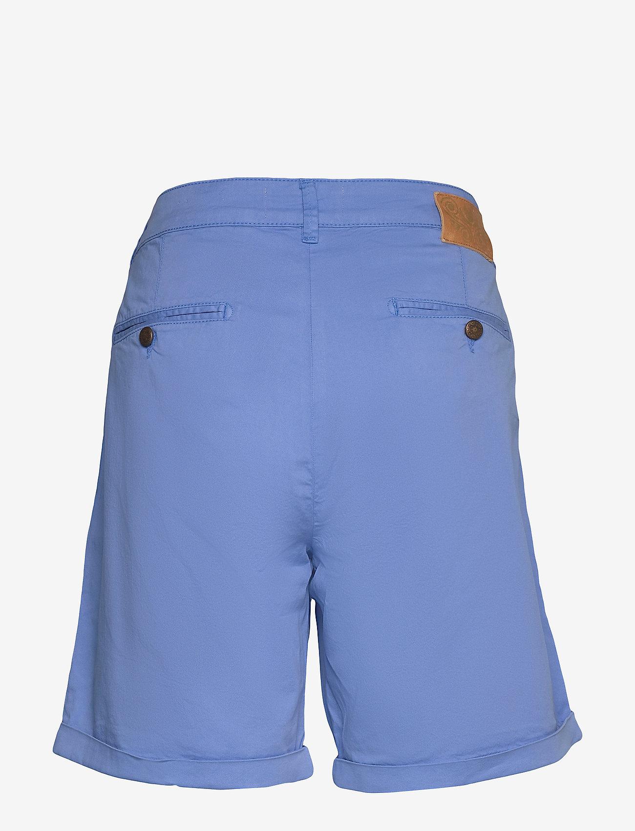 MOS MOSH Perry Chino Shorts - Szorty ULTRAMARINE - Kobiety Odzież.