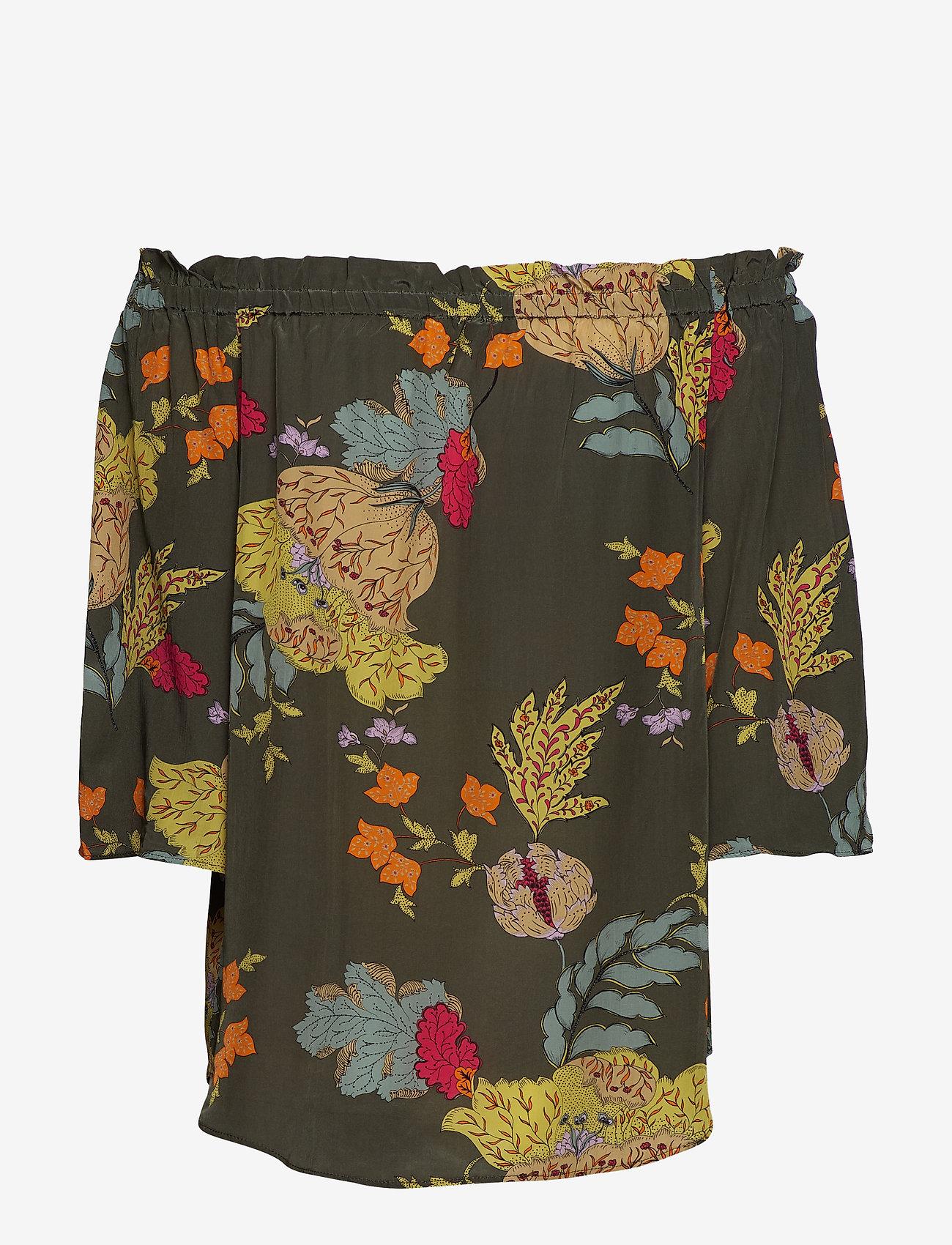 MOS MOSH Ashley Ava Blouse - Blouses & Shirts GRAPE LEAF FLOWER