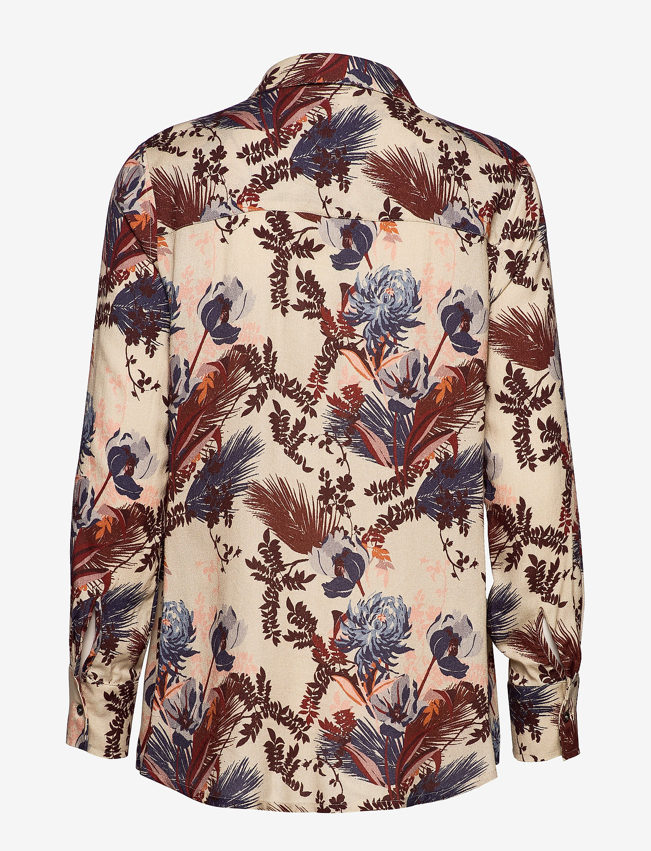 Kelly Beaux Shirt (Wild Plum Flower) - MOS MOSH S6lrLe