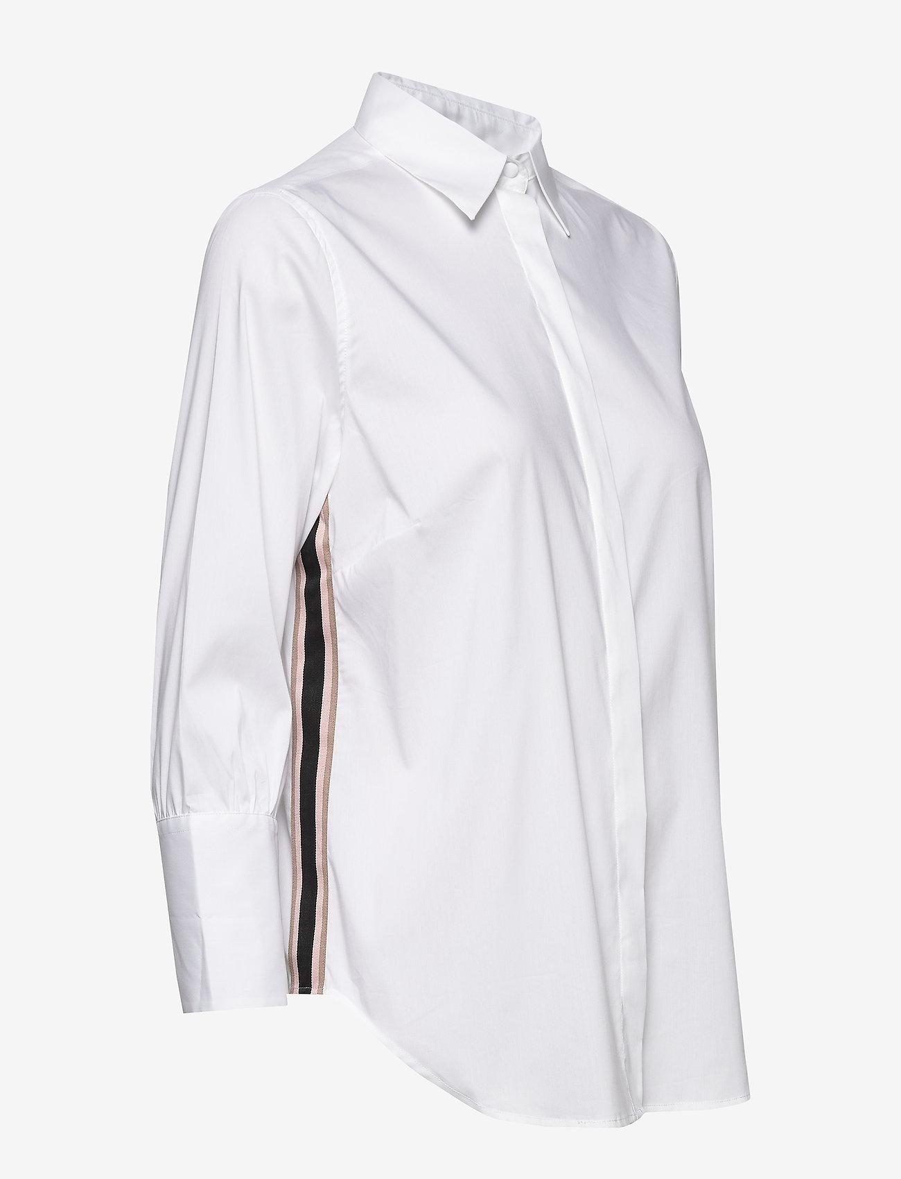 MOS MOSH Larina Ribbon Shirt 7/8 - Blouses & Shirts WHITE