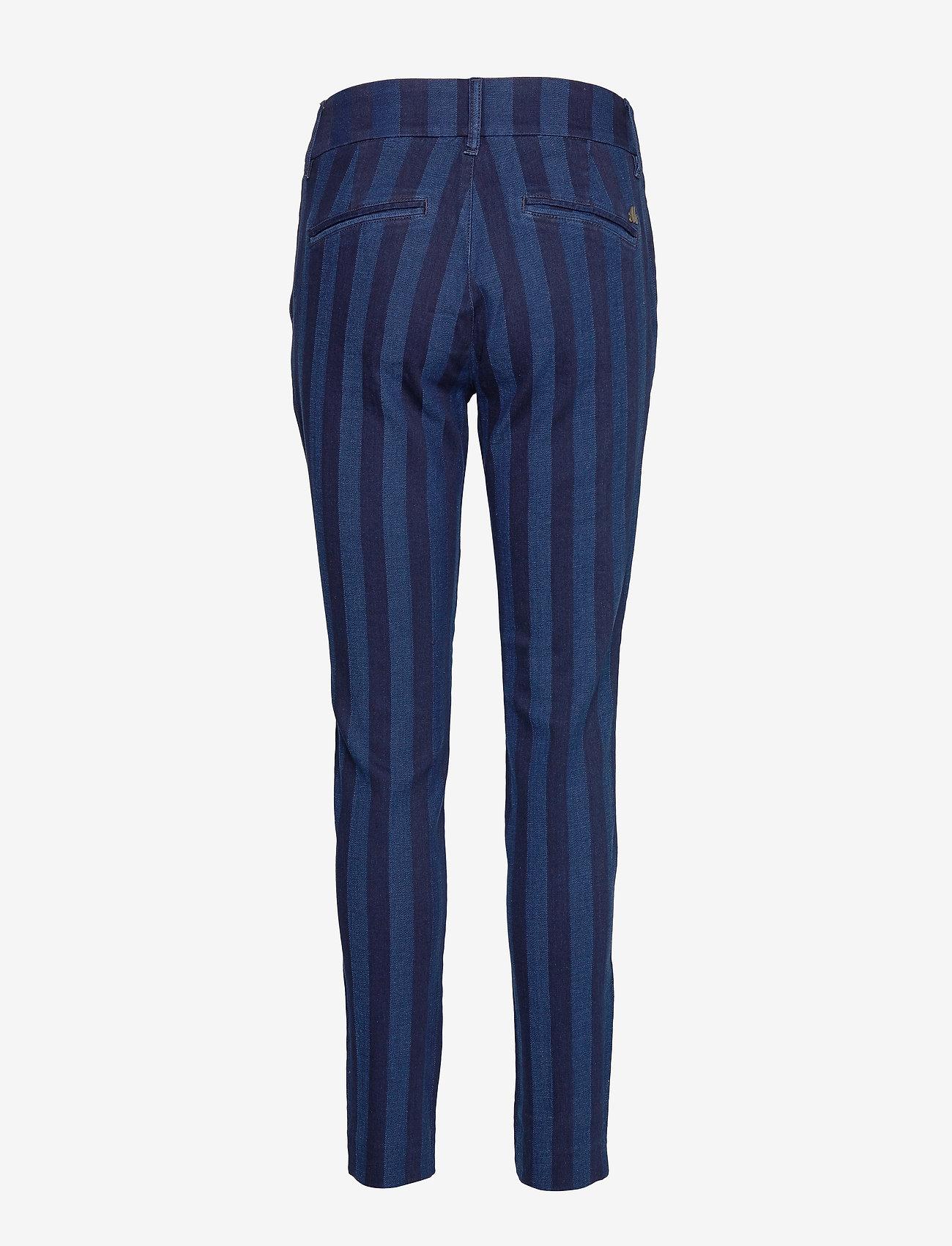 Mos Mosh Blake Stripe Pant - Byxor Dark Blue