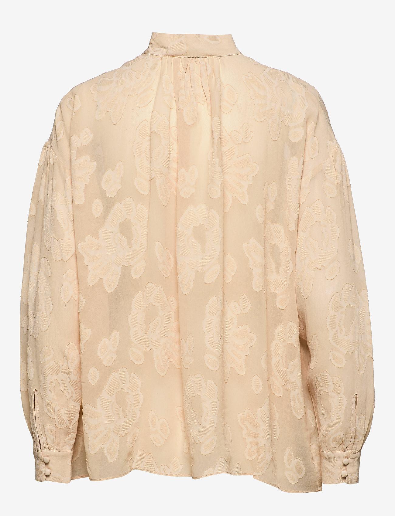 MOS MOSH - Iris Jacquard Blouse - blouses med lange mouwen - pebble - 1