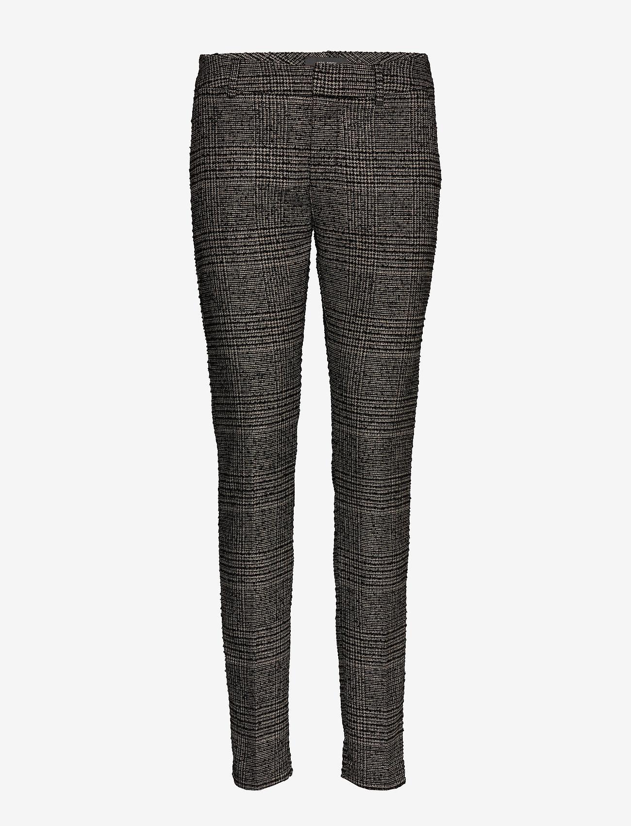 MOS MOSH - Abbey Regular York Pant - slim fit bukser - black check