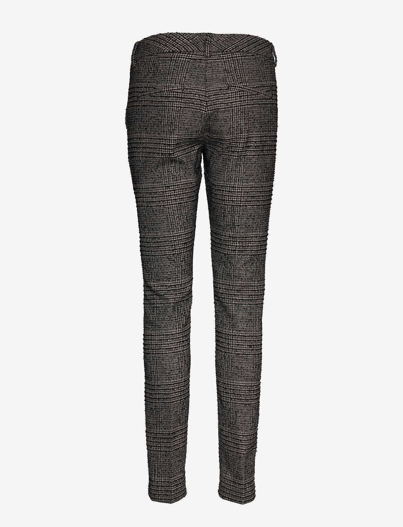 MOS MOSH Abbey Regular York Pant - Spodnie BLACK CHECK - Kobiety Odzież.