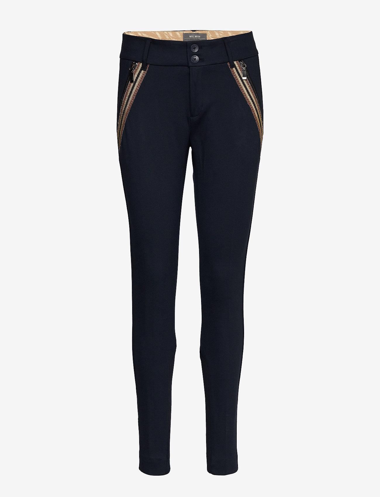 MOS MOSH - Milton Comfort Pant - slim fit bukser - salute navy