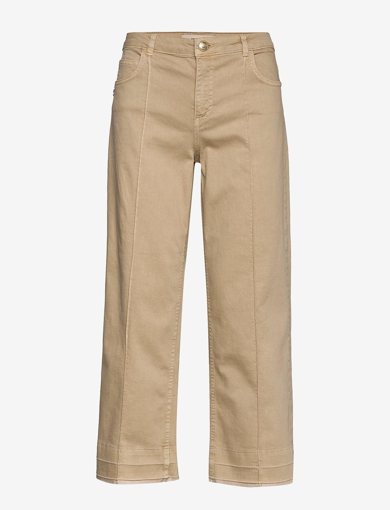 MOS MOSH - Cora G.D Jeans - broeken met wijde pijpen - safari - 0