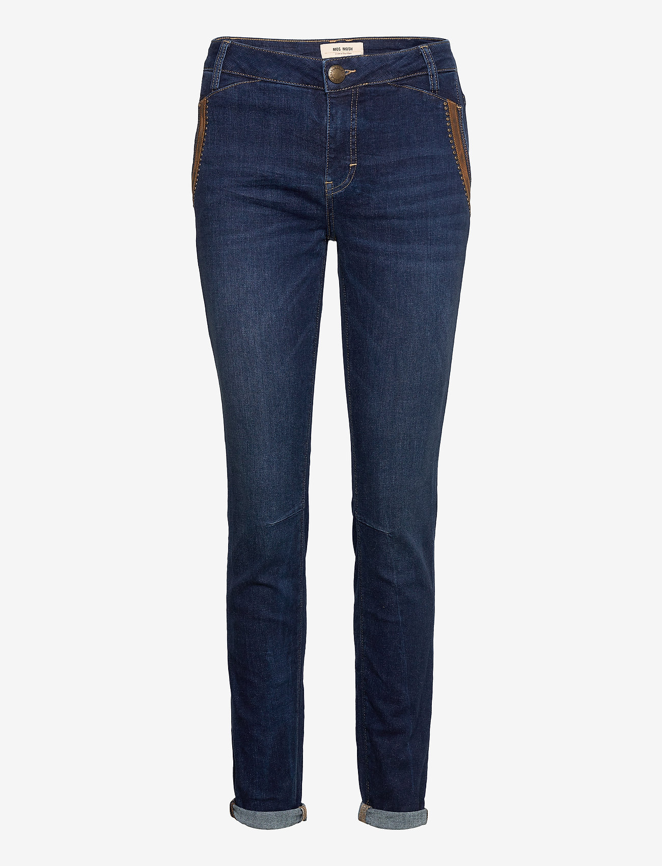 MOS MOSH - Etta Leather Jeans - straight jeans - blue - 0
